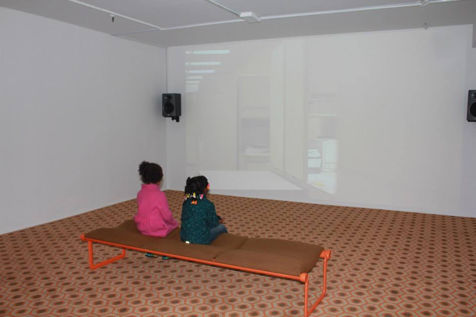 My mini and my niece at the studio museum of Harlem