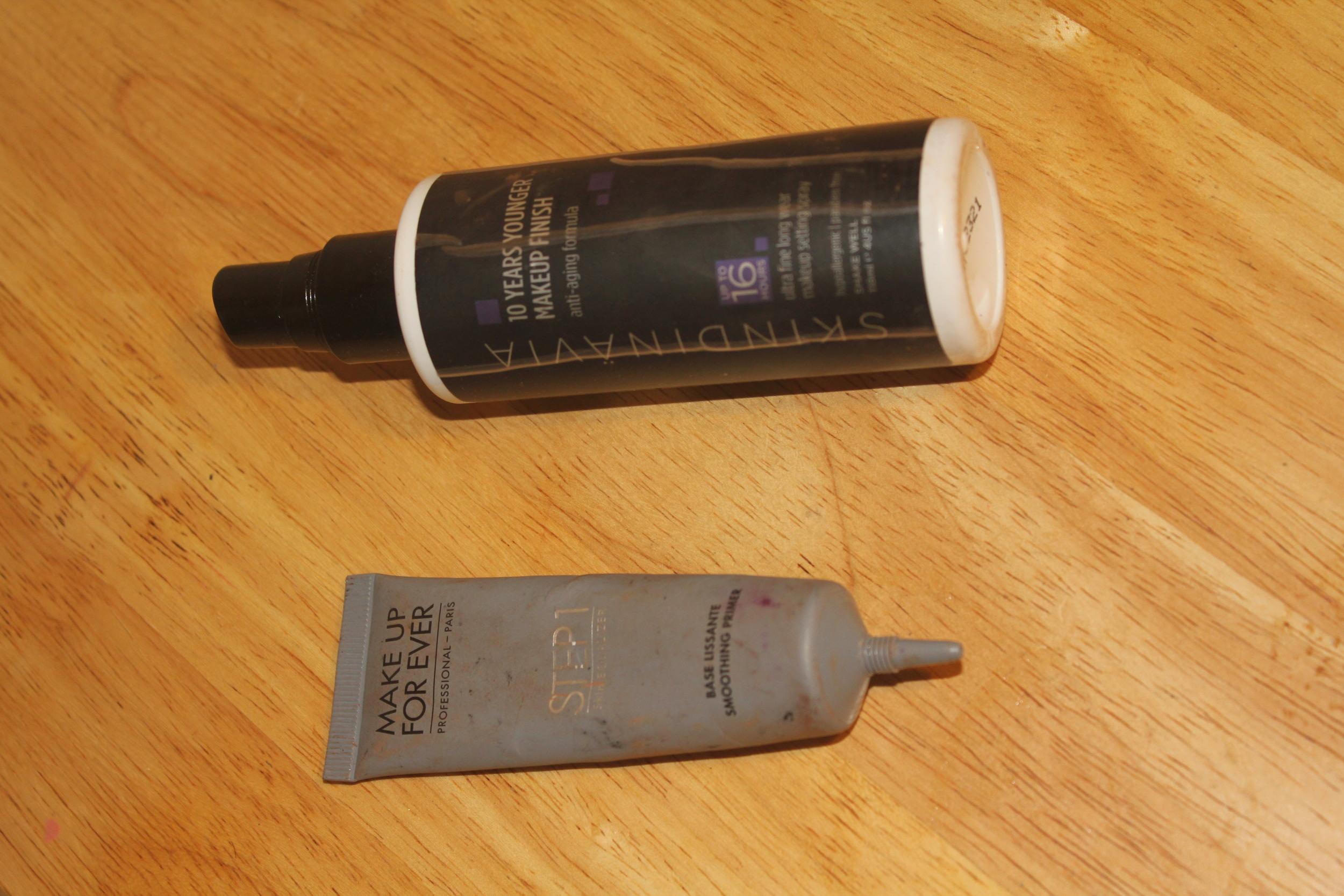 MakeUp Forever primer and Skindinavia Makeup Finishing spray