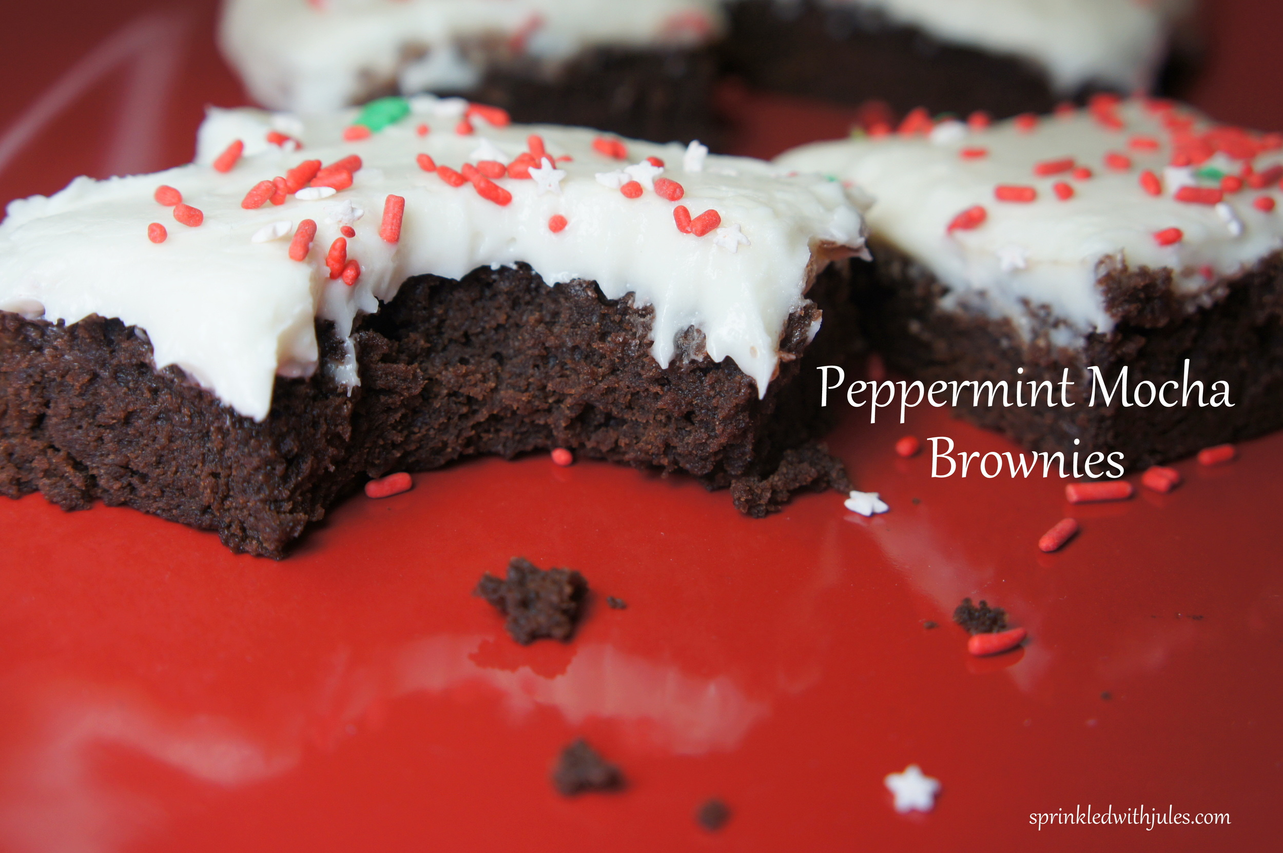 Peppermint Mocha Brownies