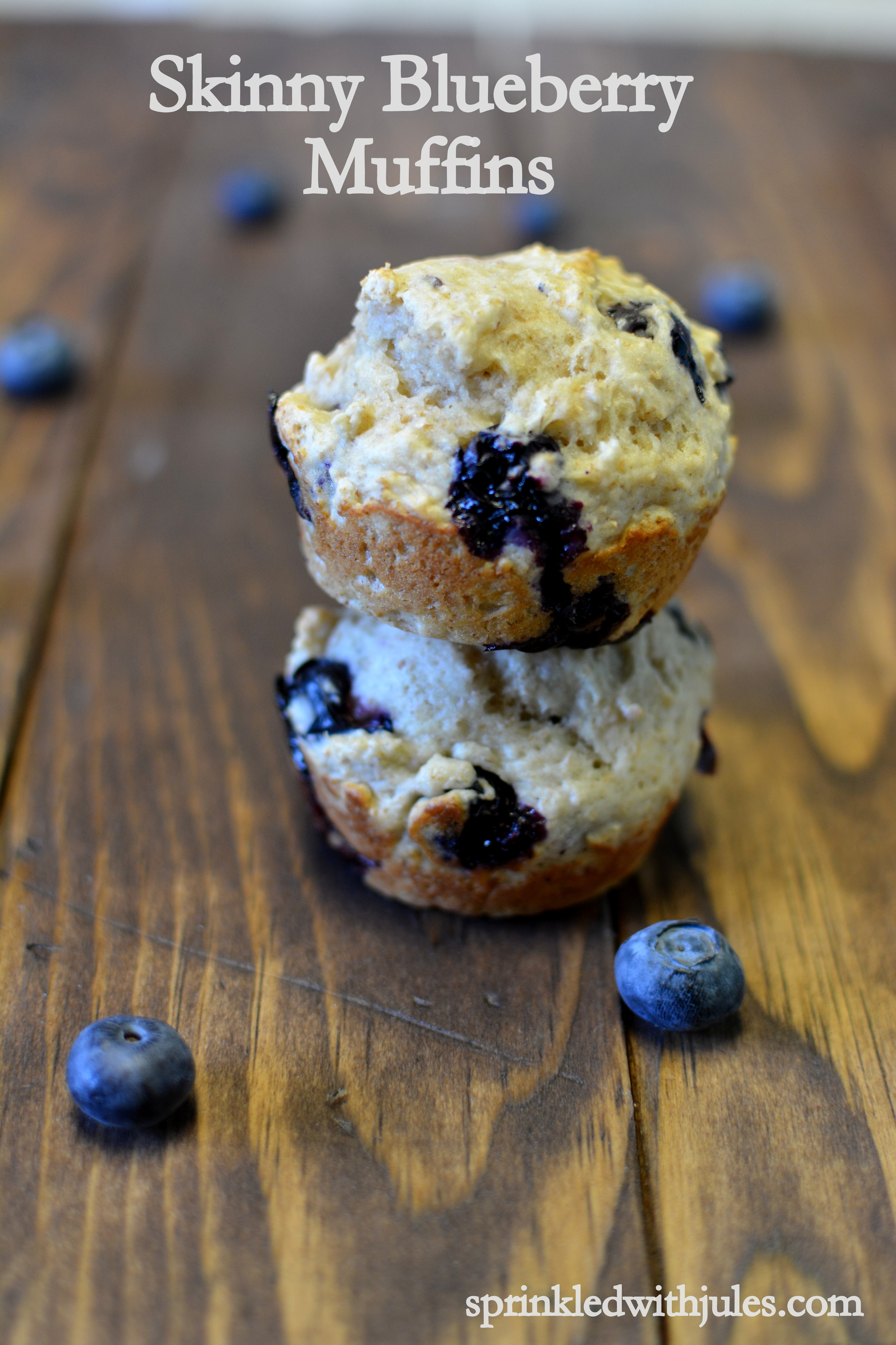 Skinny Blueberry Muffins. No butter or oil.  / Sprinkled With Jules