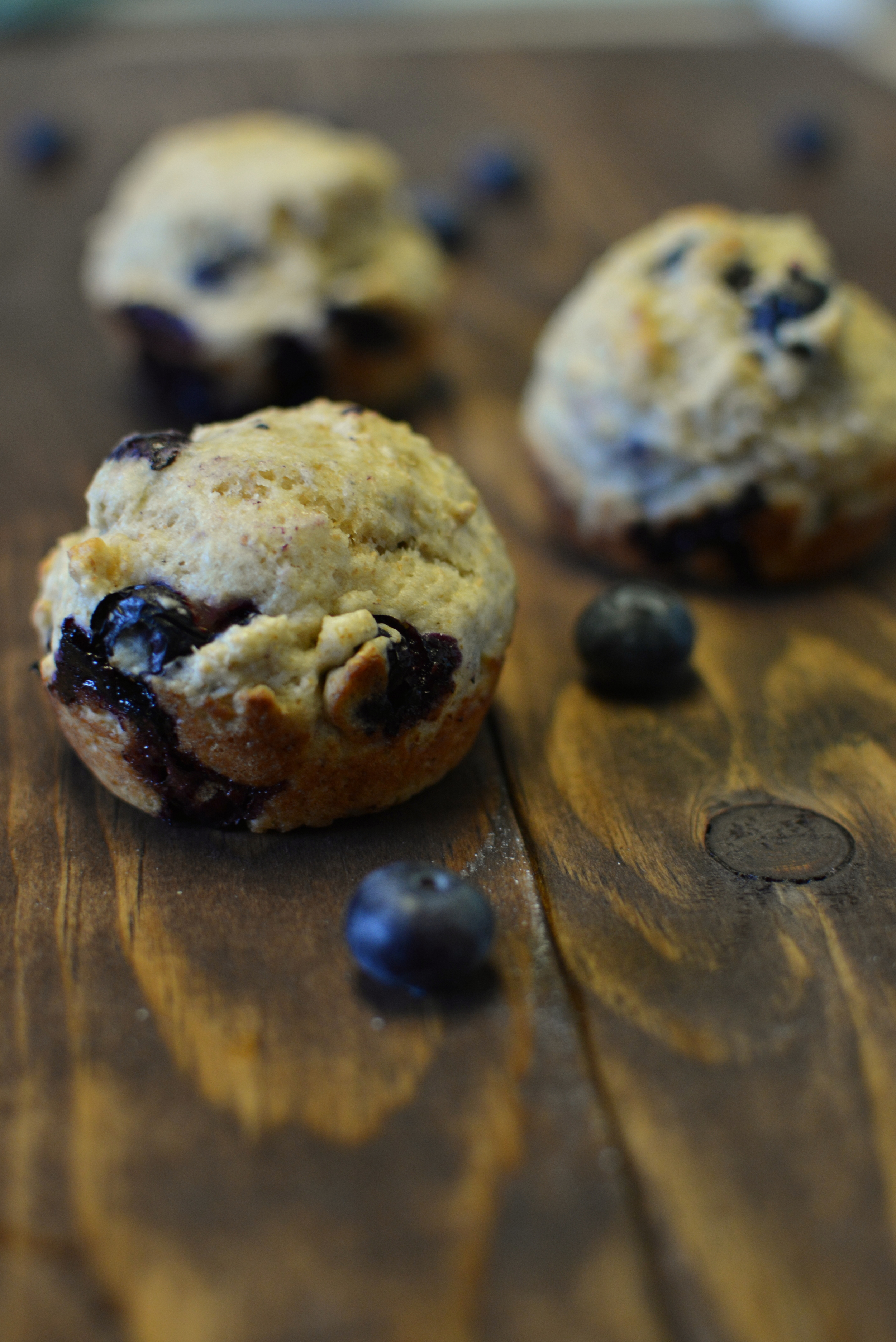 Skinny Blueberry Muffins. No butter or oil! / Sprinkled With Jules