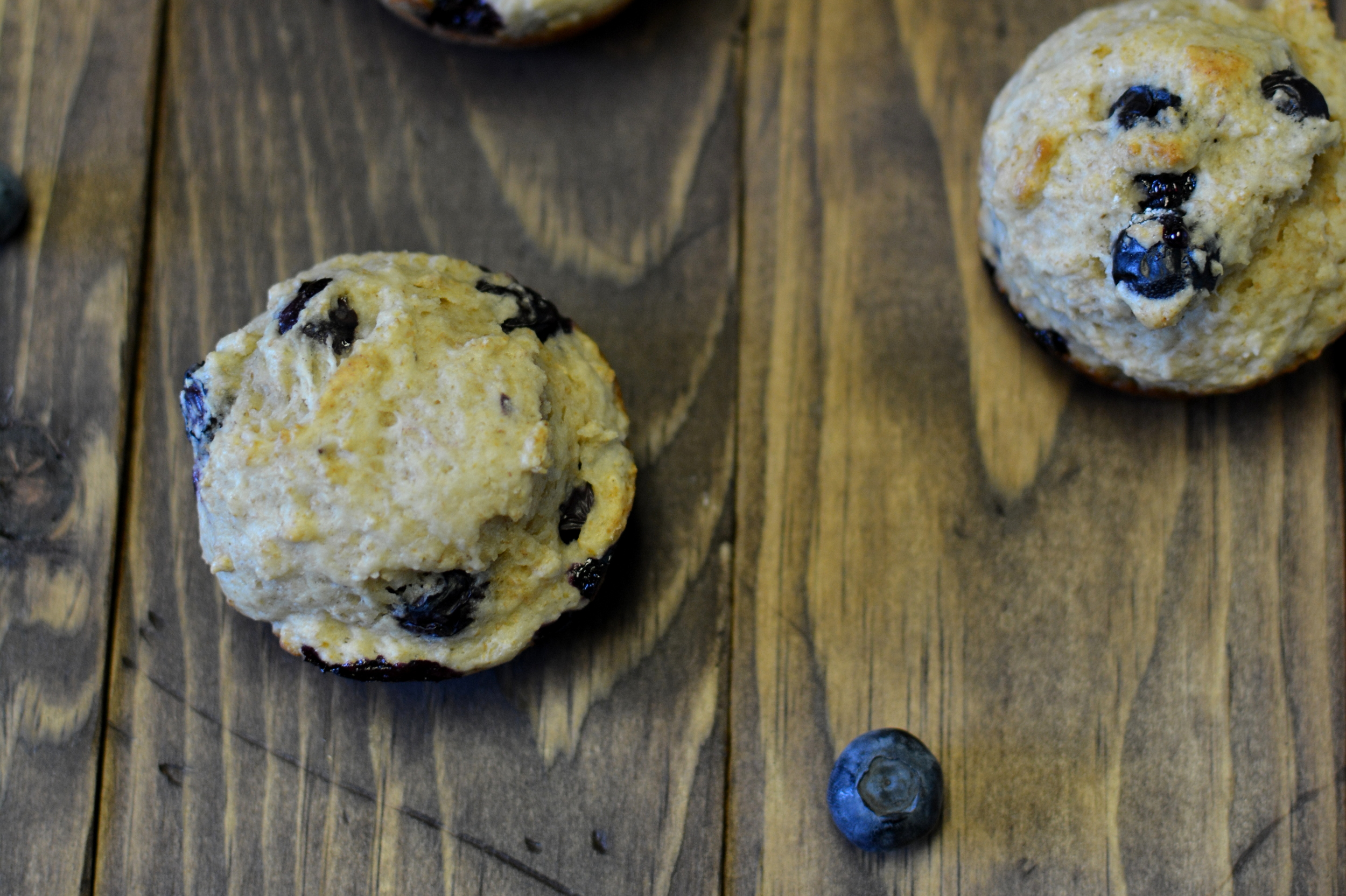 Skinny Blueberry Muffins / Sprinkled With Jules