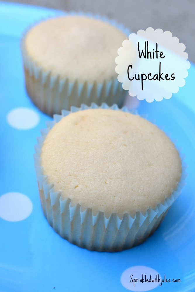 White Cupcakes - Sprinkled With Jules
