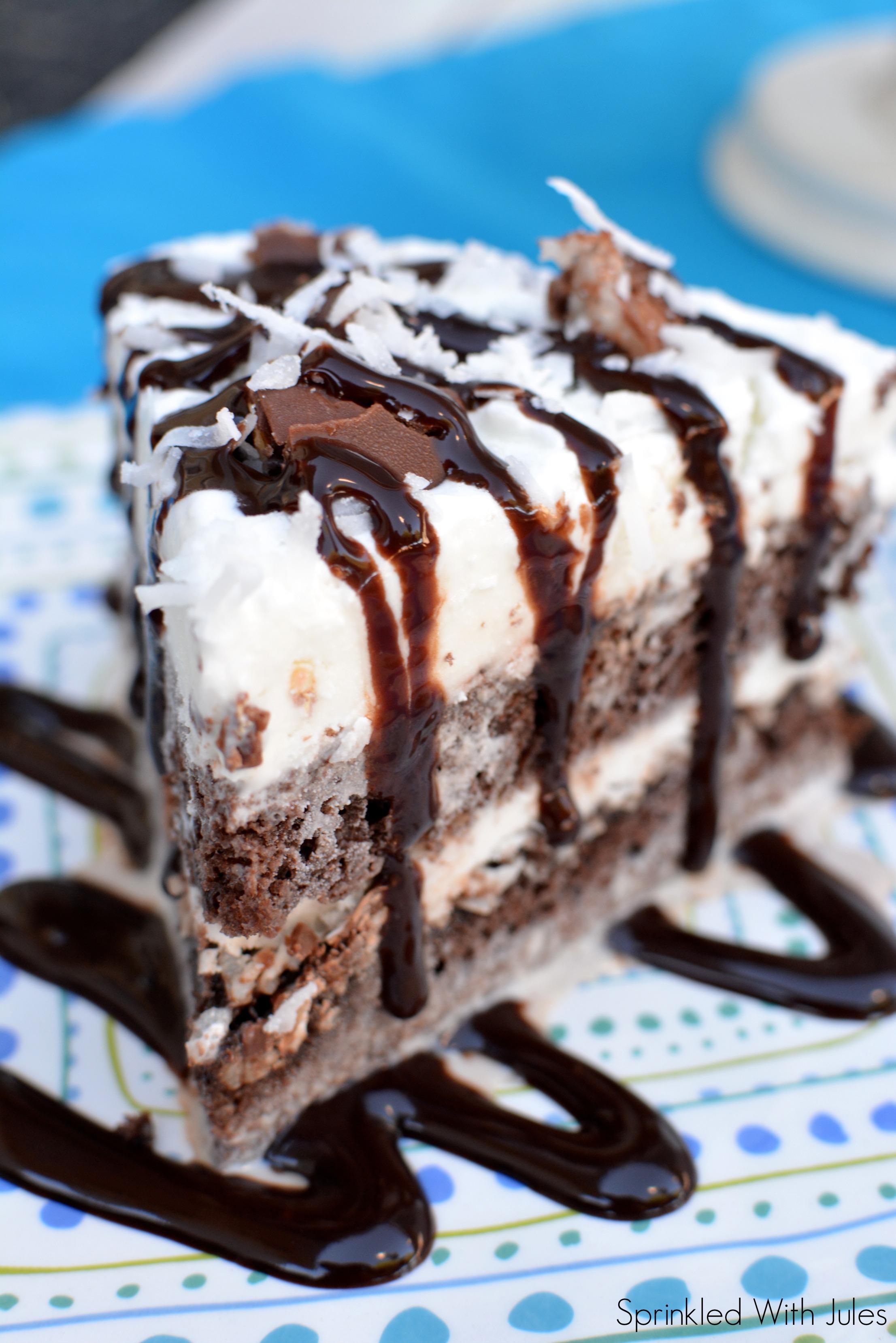 Almond Joy Ice Cream Cake / Sprinkled With Jules