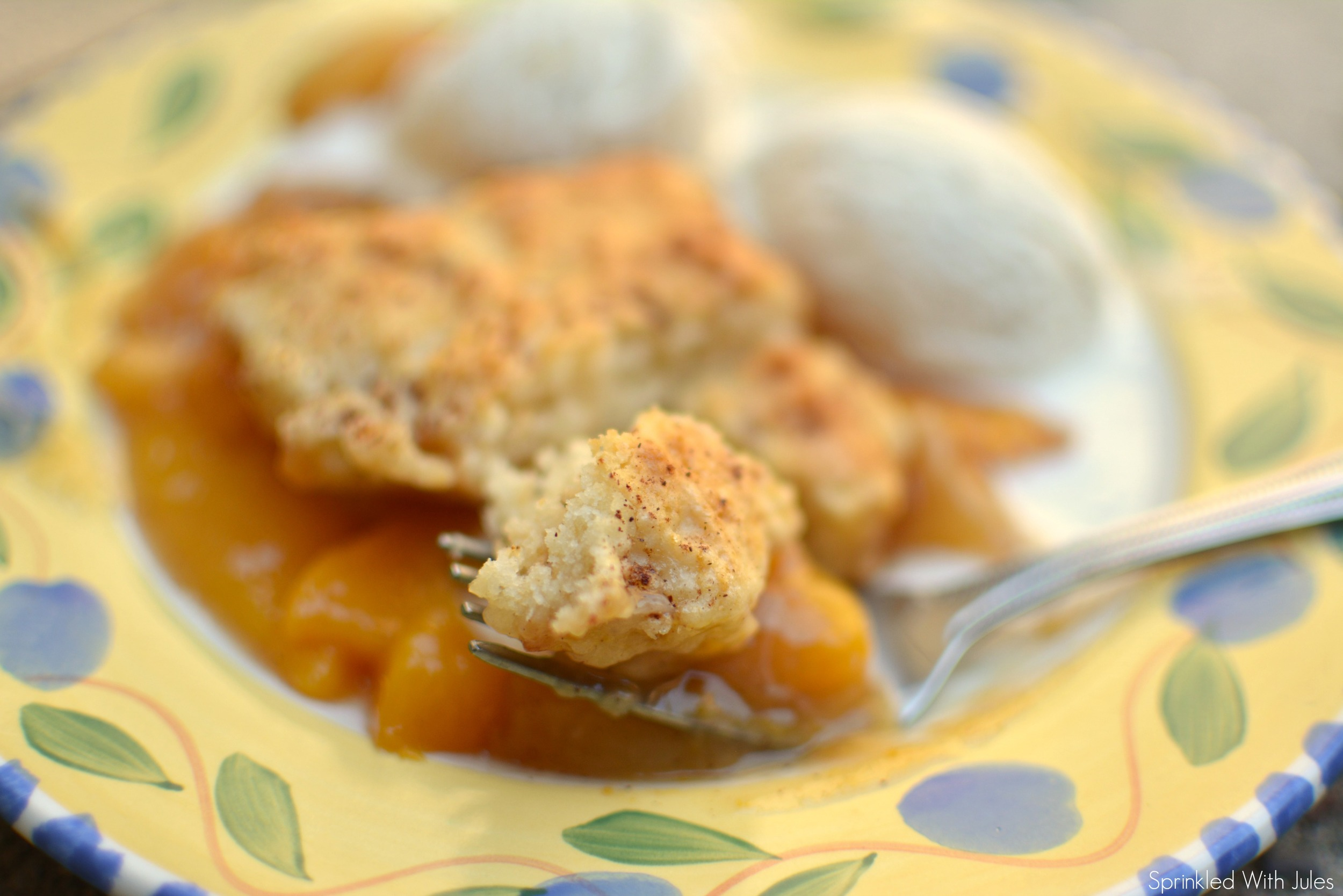 Peach Cobbler / Sprinkled With Jules