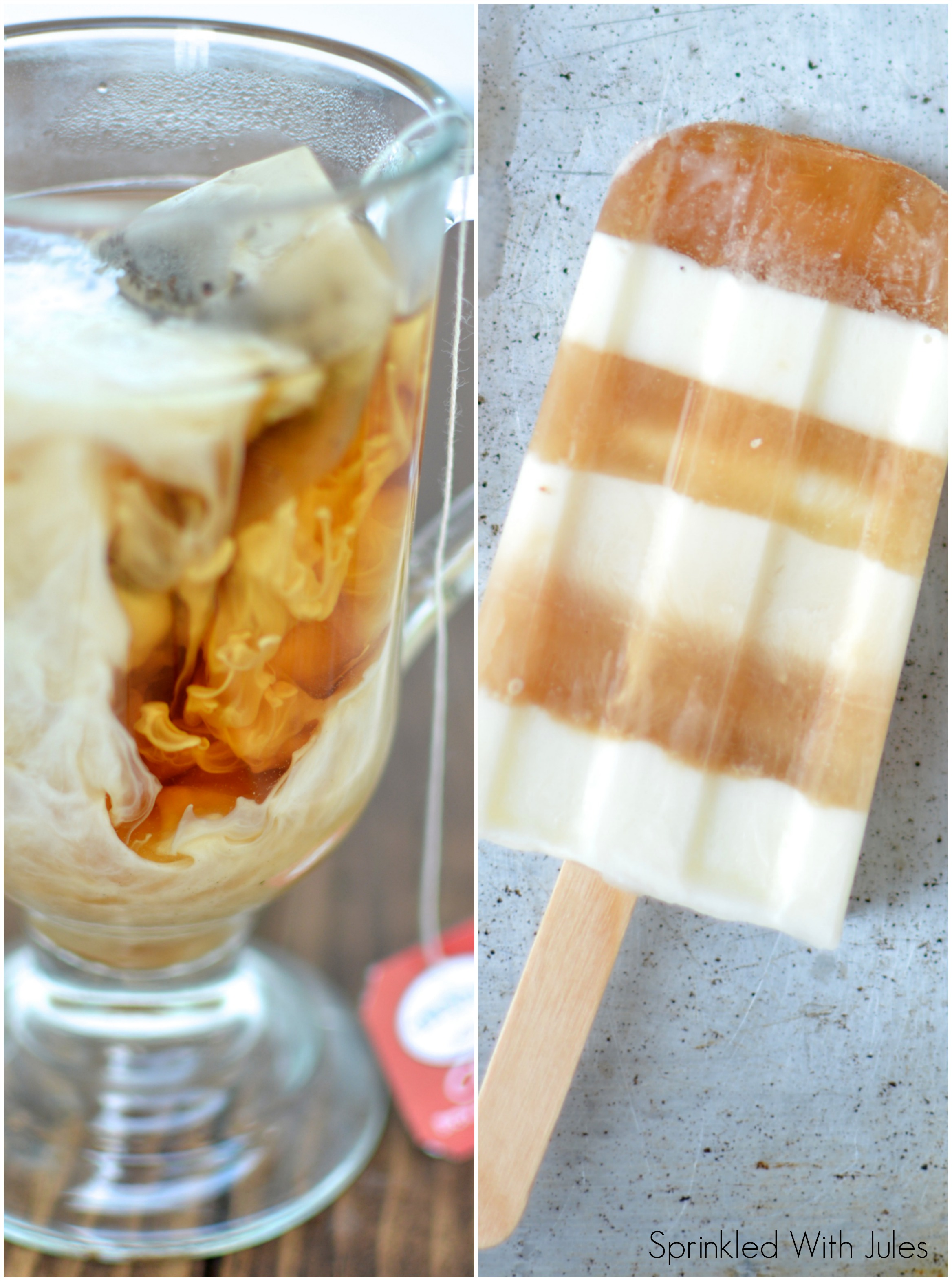 Chai Tea Latte Popsicles / Sprinkled With Jules