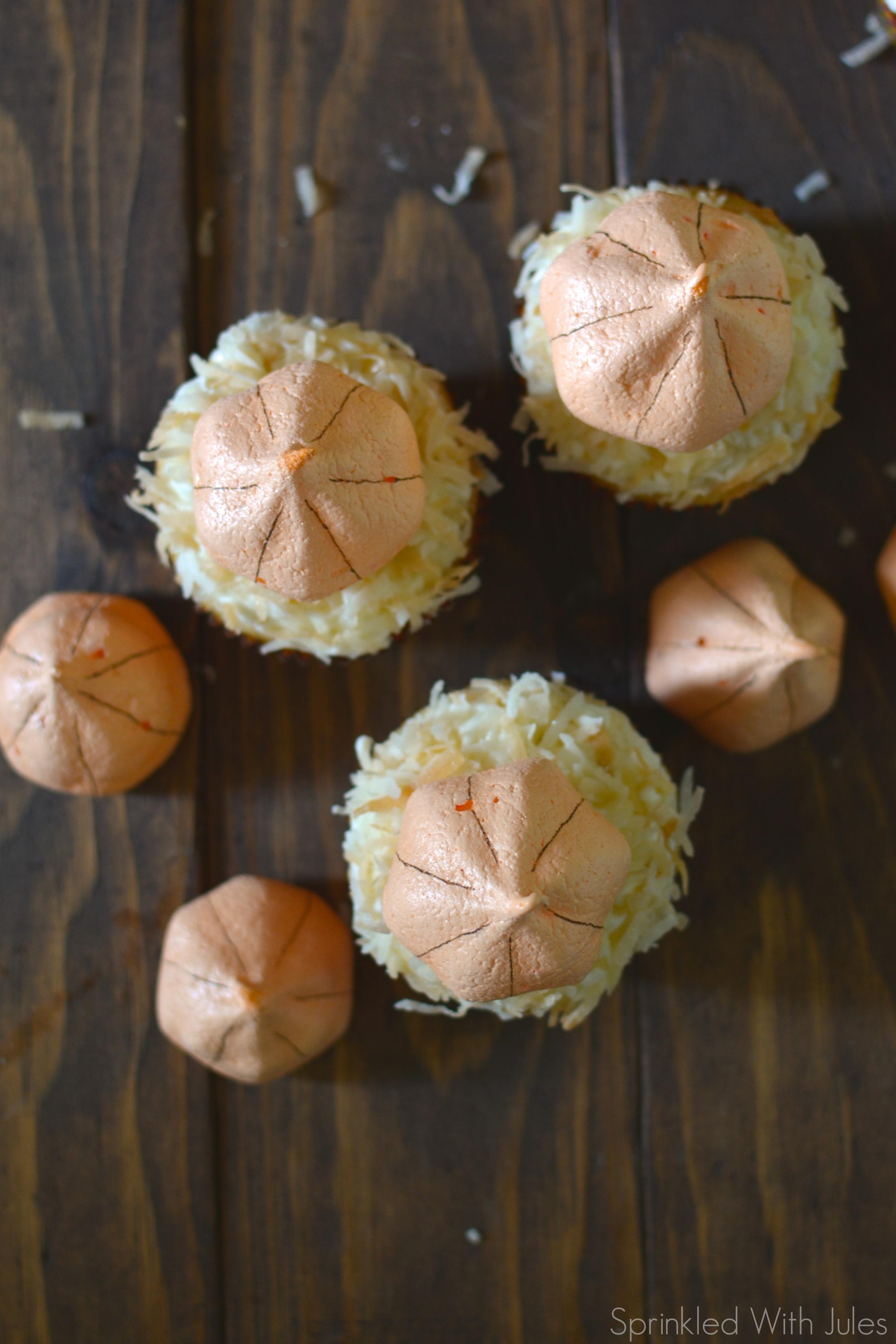 Pumpkin Meringue Cookies and Cupcakes / Sprinkled With Jules