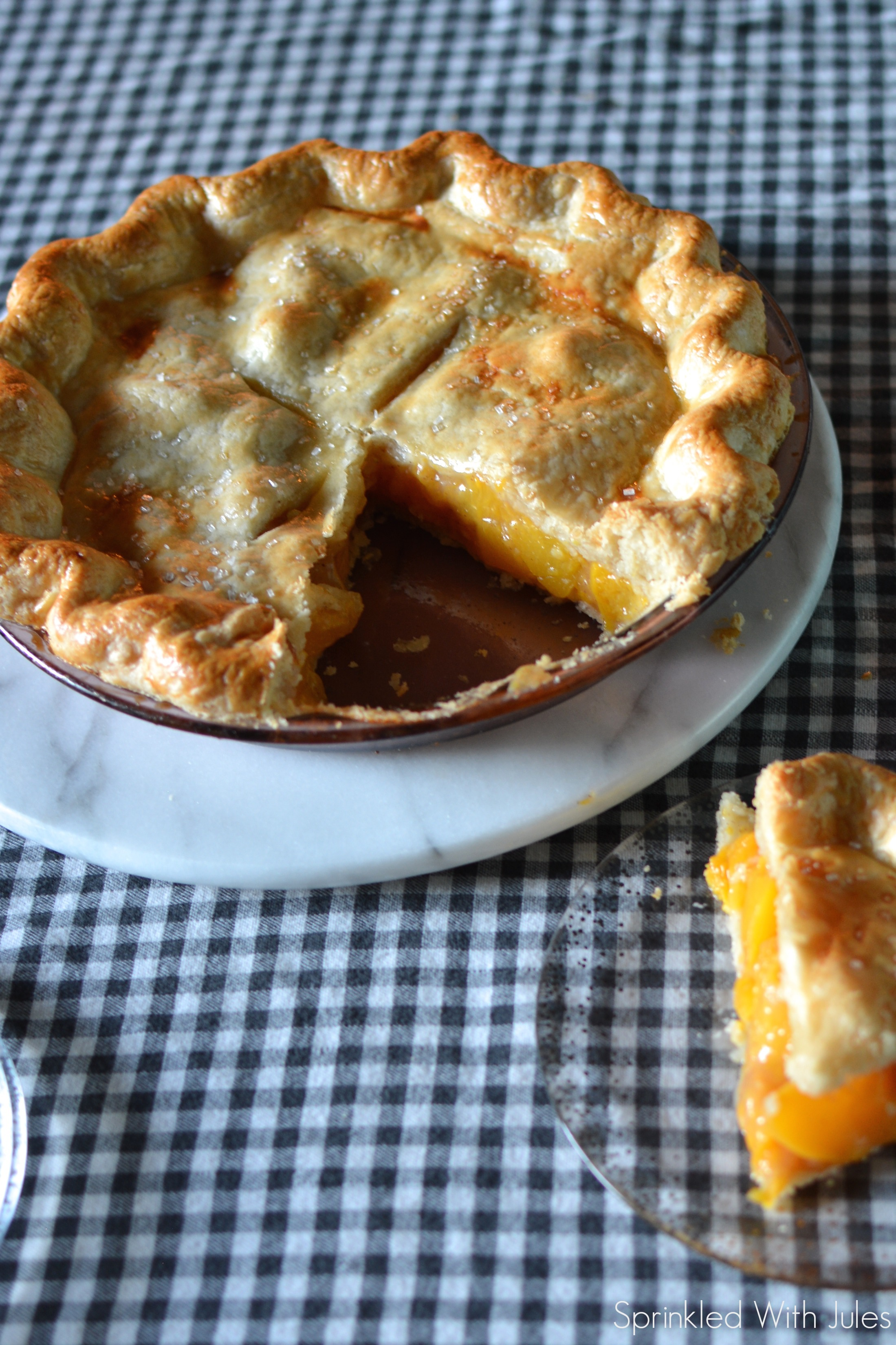 Ginger Peach Pie / Sprinkled With Jules