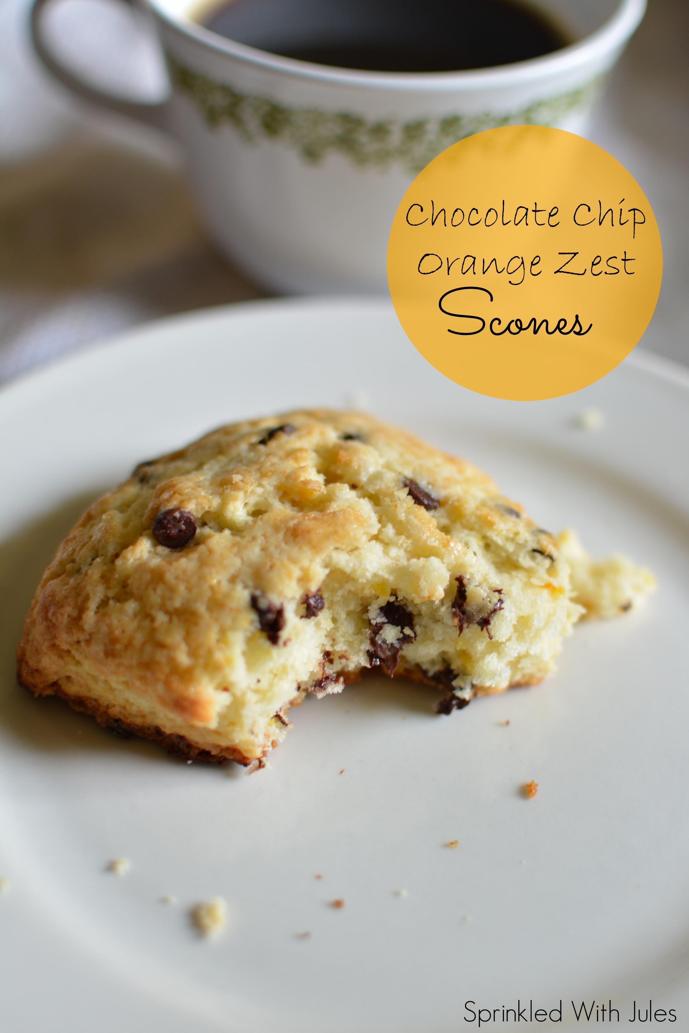Chocolate Chip Orange Zest Scones / Sprinkled With Jules