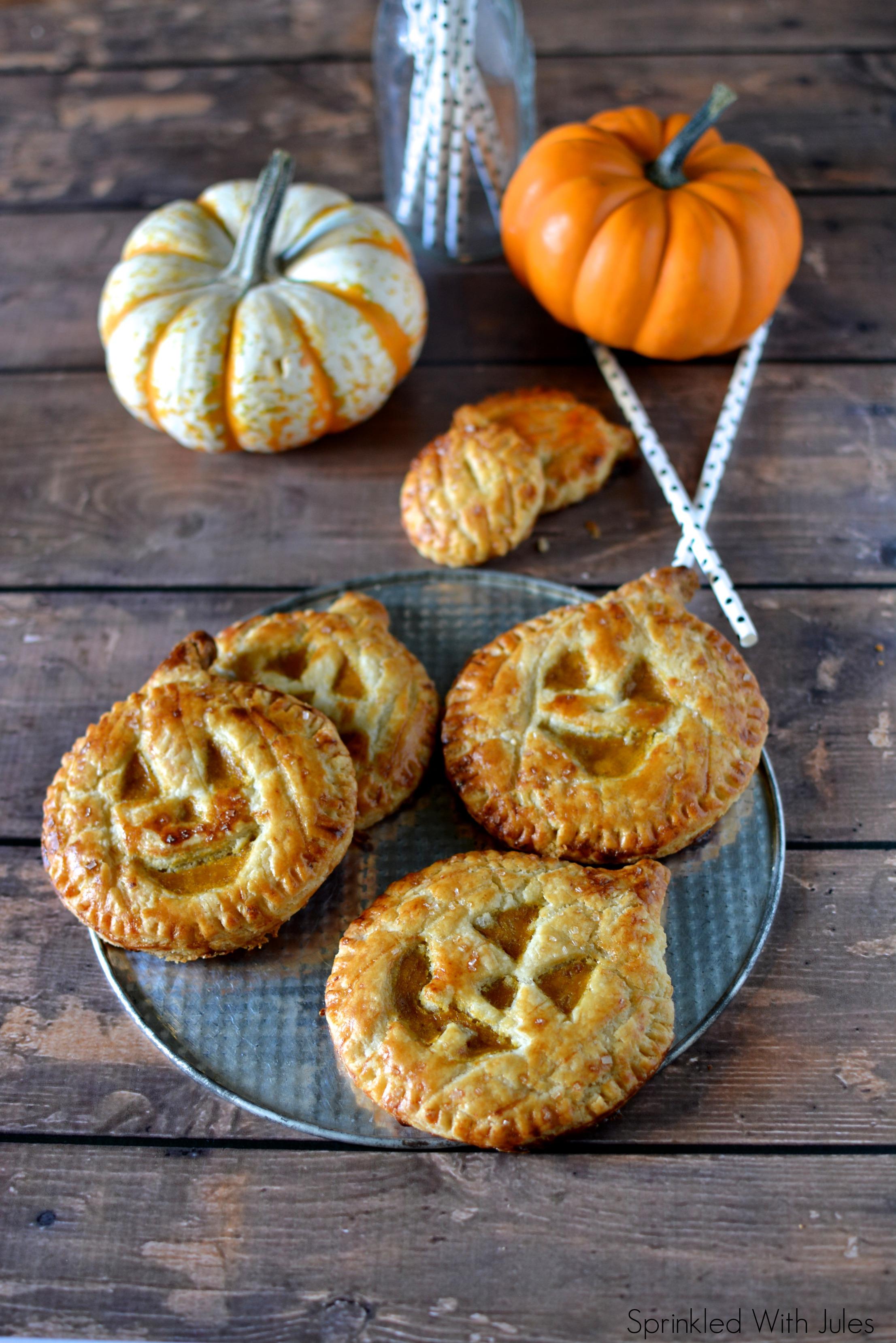 Jack-O-Lantern Pumpkin Hand Pies / Sprinkled With Jules
