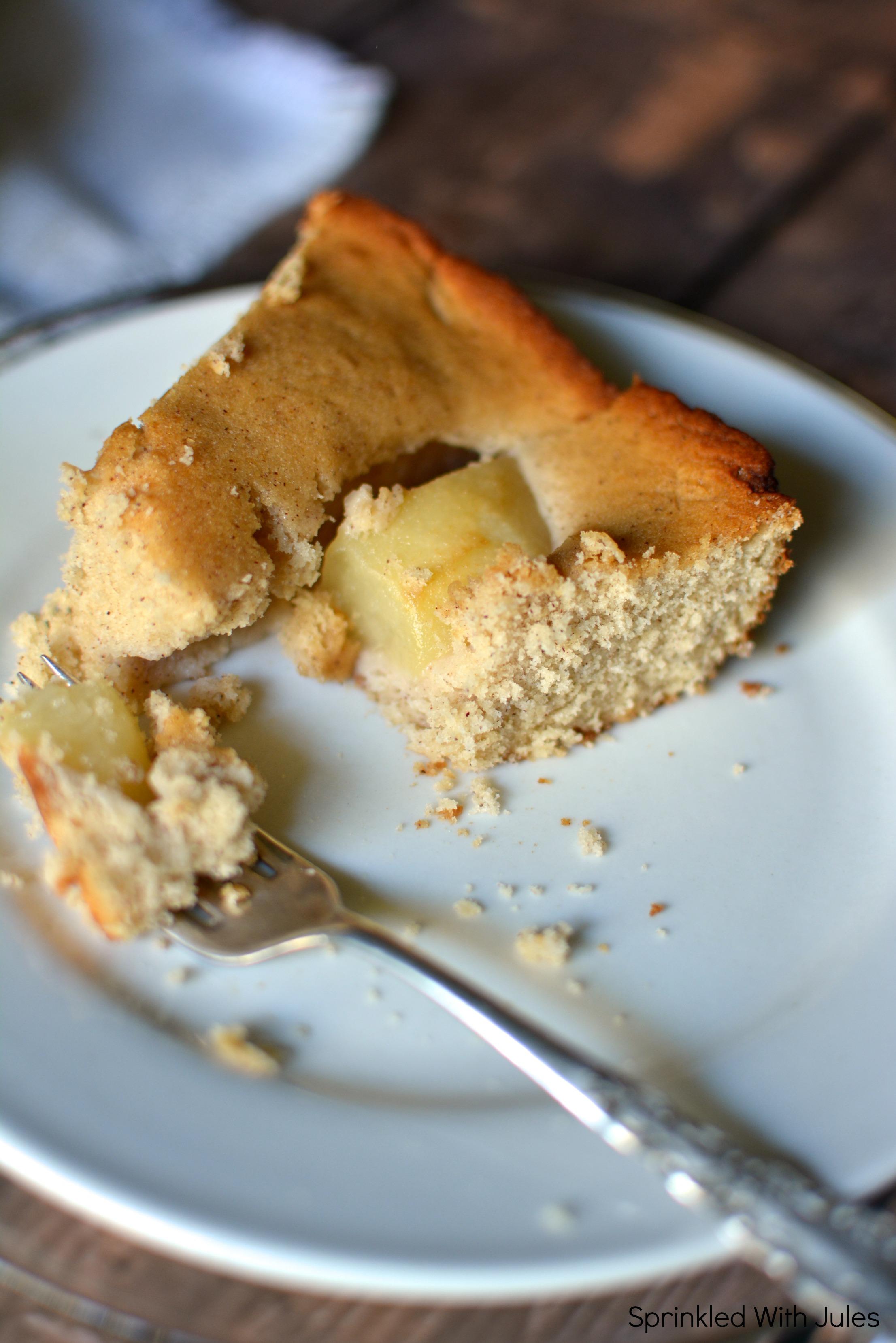 Skillet Cinnamon Pear Coffee Cake / Sprinkled With Jules