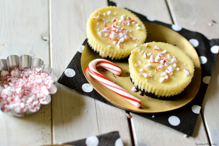 White Chocolate Peppermint Cheesecake Cups / Sprinkled With Jules