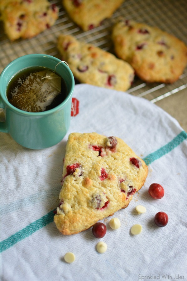 Cranberry White Chocolate Scones / Sprinkled With Jules