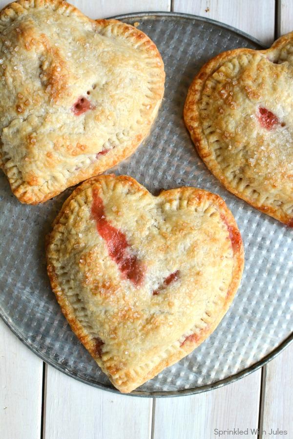 Strawberries & Cream Heart Hand Pies