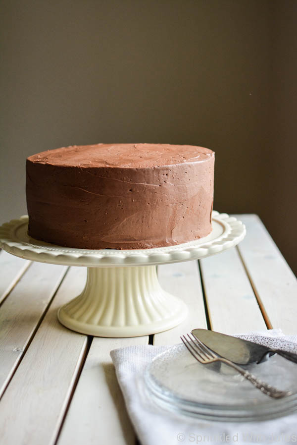 Peanut Butter Cake with Chocolate Buttercream Frosting / Sprinkled With Jules