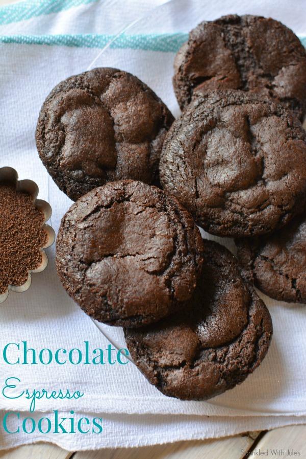 Chocolate Espresso Cookies / Sprinkled With Jules