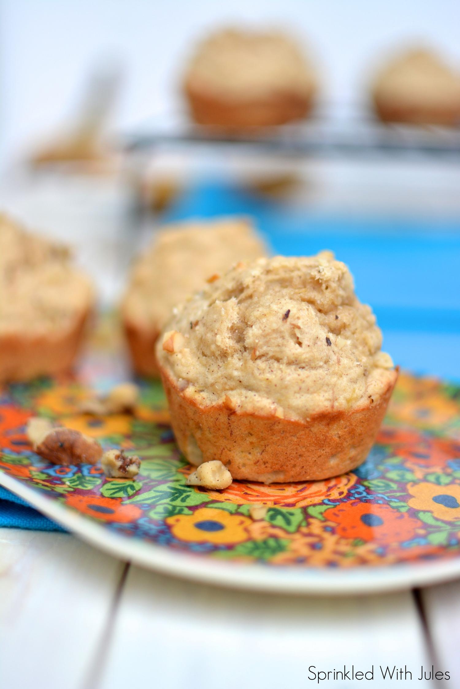 Skinny Banana Muffins