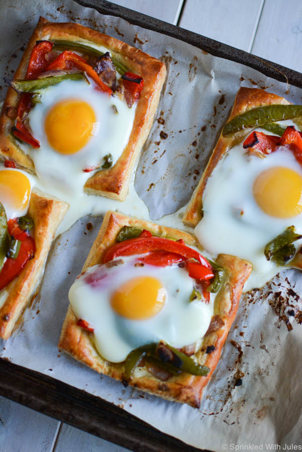 Roasted Vegetable and Puff Pastry Tarts