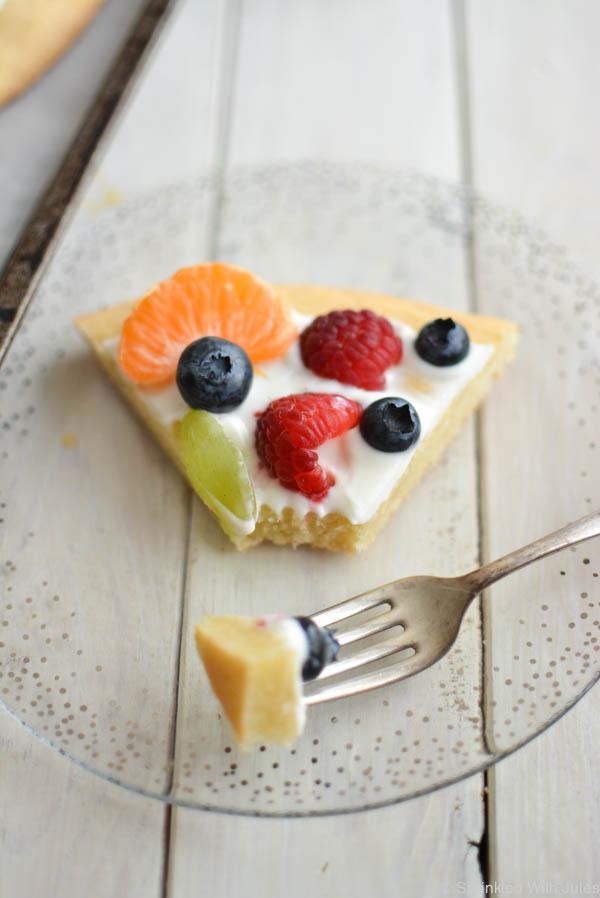 Easter Egg Fruit Pizza with Greek Yogurt. / Sprinkled With Jules
