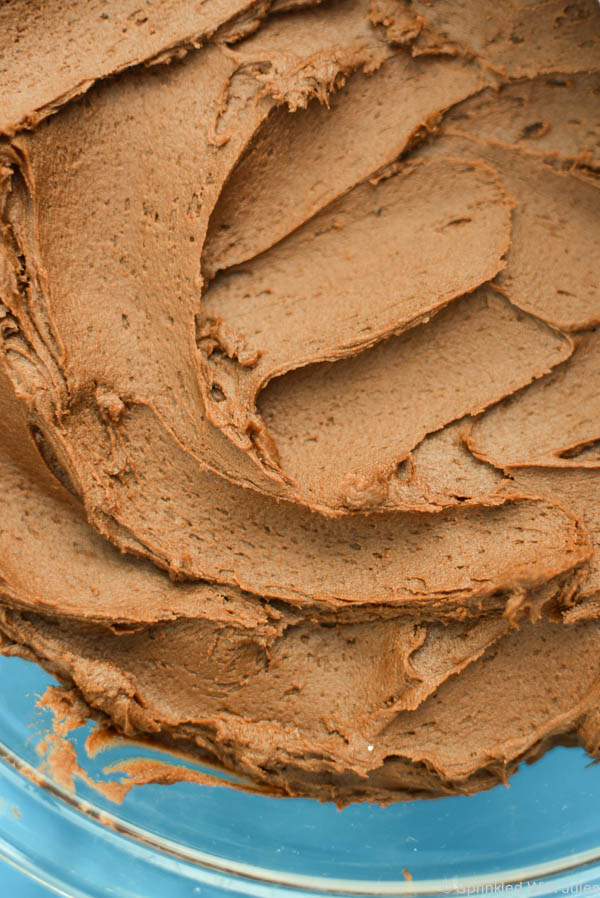 Rich and fudgy chocolate buttercream frosting