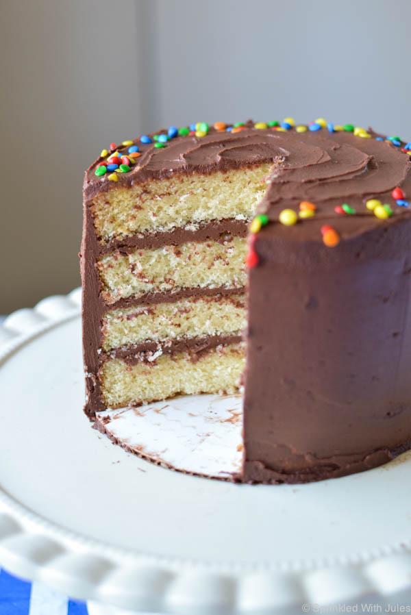 great recipe for yellow layered birthday cake!