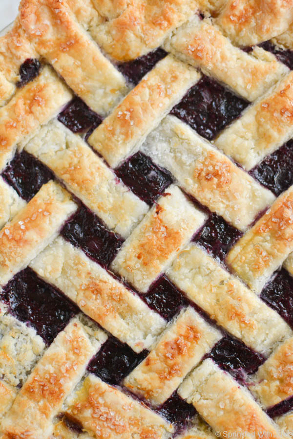 The perfect blueberry pie full of bright flavor, subtly sweet, and a perfect no-drip filling.