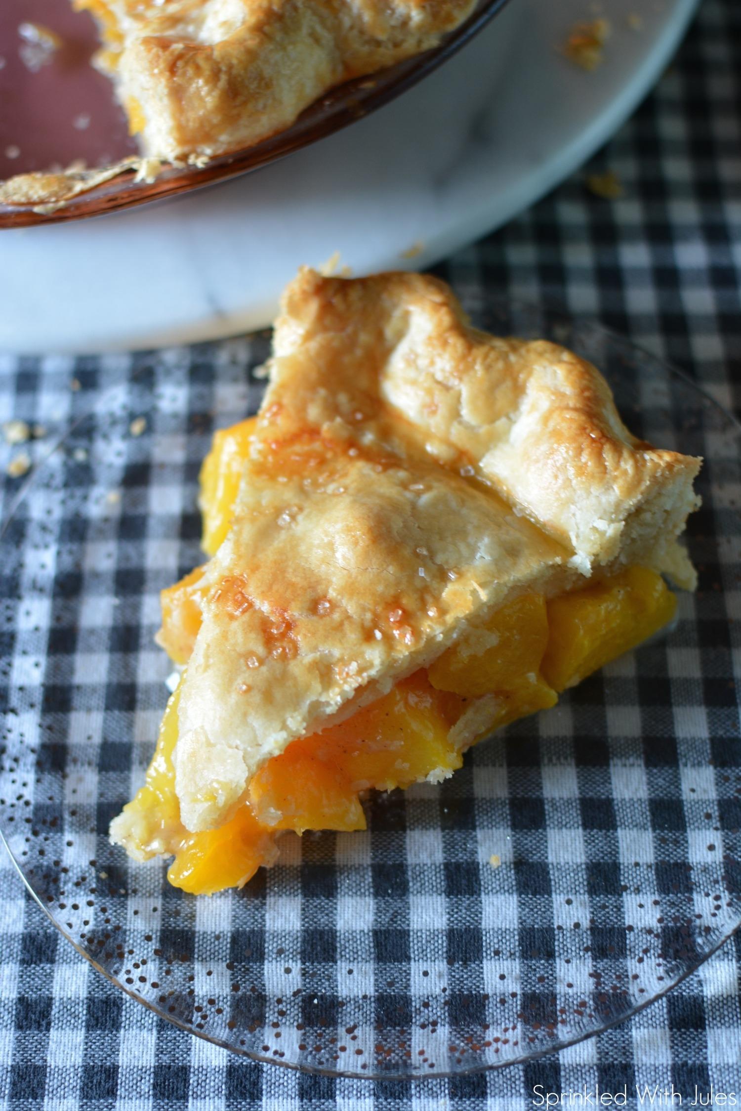 Ginger Peach Pie