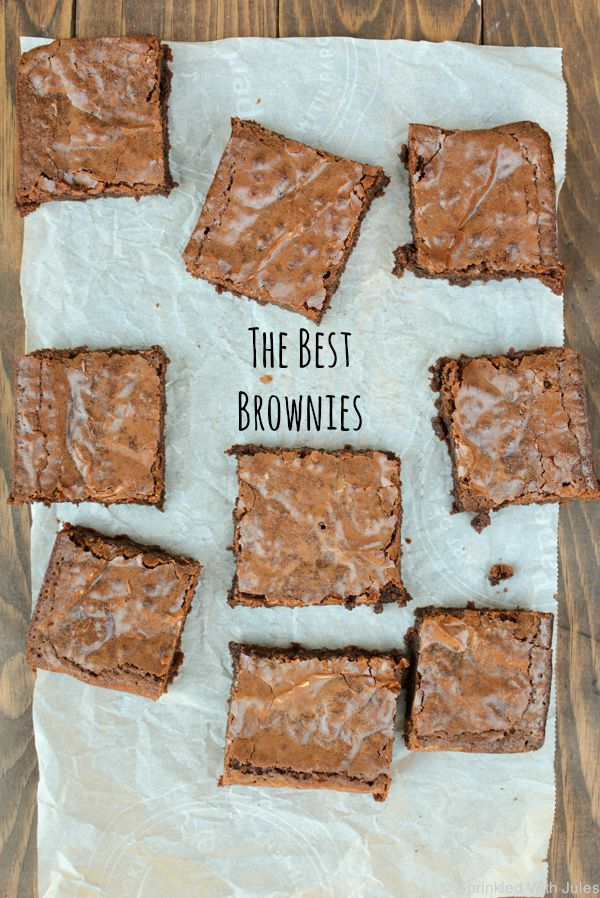 The Best Brownies with the perfect soft crackly top!