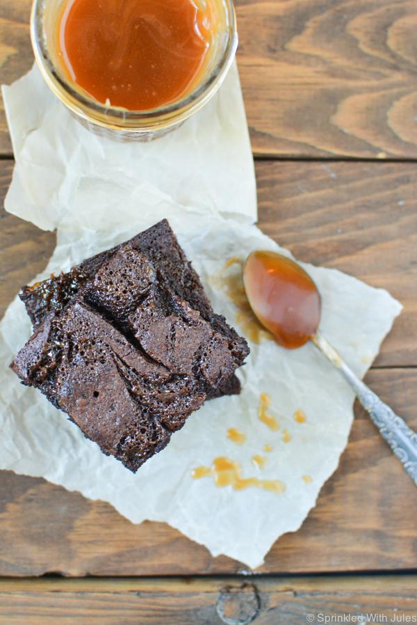 sea salt caramel brownies