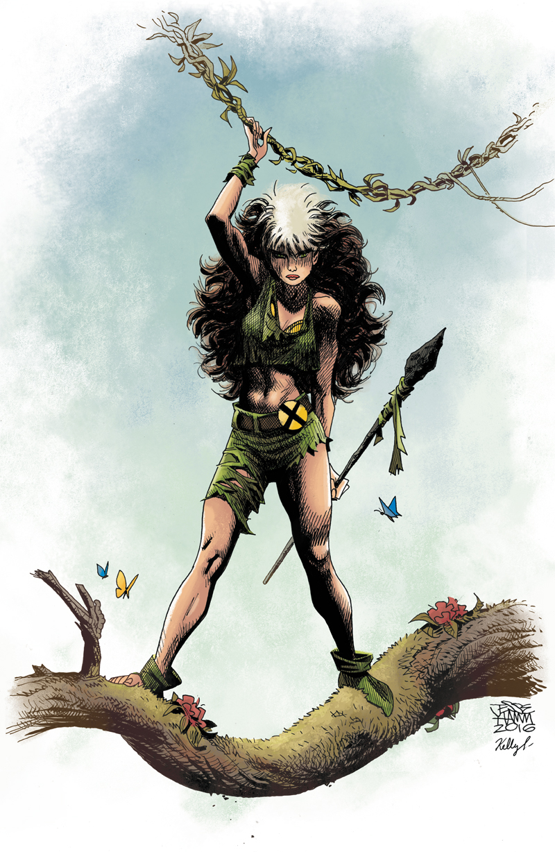 Savage Land Rogue by Jesse Hamm// Colored by Kelly Fitzpatrick