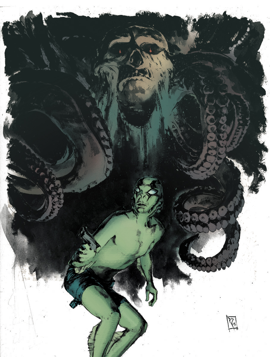Abe Sapien Pin-up by Patric Reynolds. Colored by Kelly Fitzpatrick.   Patric's website:  http://murderingink.com/