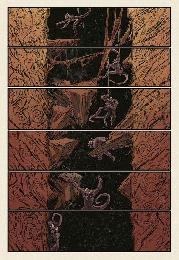 johnbivens :     page from Dark Engine #2, out in one week from the fine folks at  imagecomics .  Don't forget to pick up your copy at a local comic shop or on  comixology .     Really excited about this new book over at Image that I'm coloring! Go pick it up next week! :D