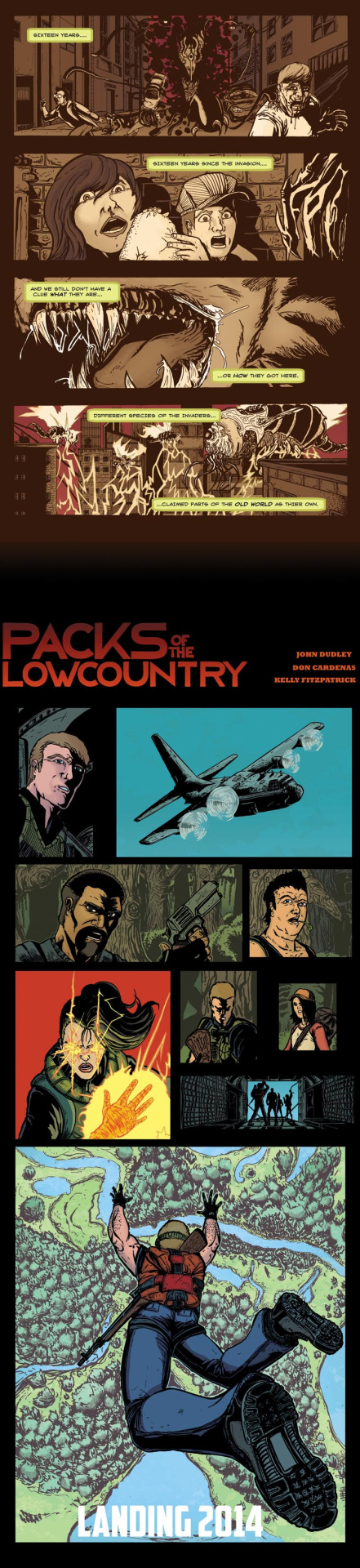 Packs Of The Low Country/ Written by John Dudley/ Inked by Don Cardenas/ Colored by Kelly Fitzpatrick   I'm working on coloring an independent book called Packs Of The Low Country. This is just a preview for the book, but more information can be found here: http://bullpenbulletinspodcast.com/forum/index.php?topic=17831.0