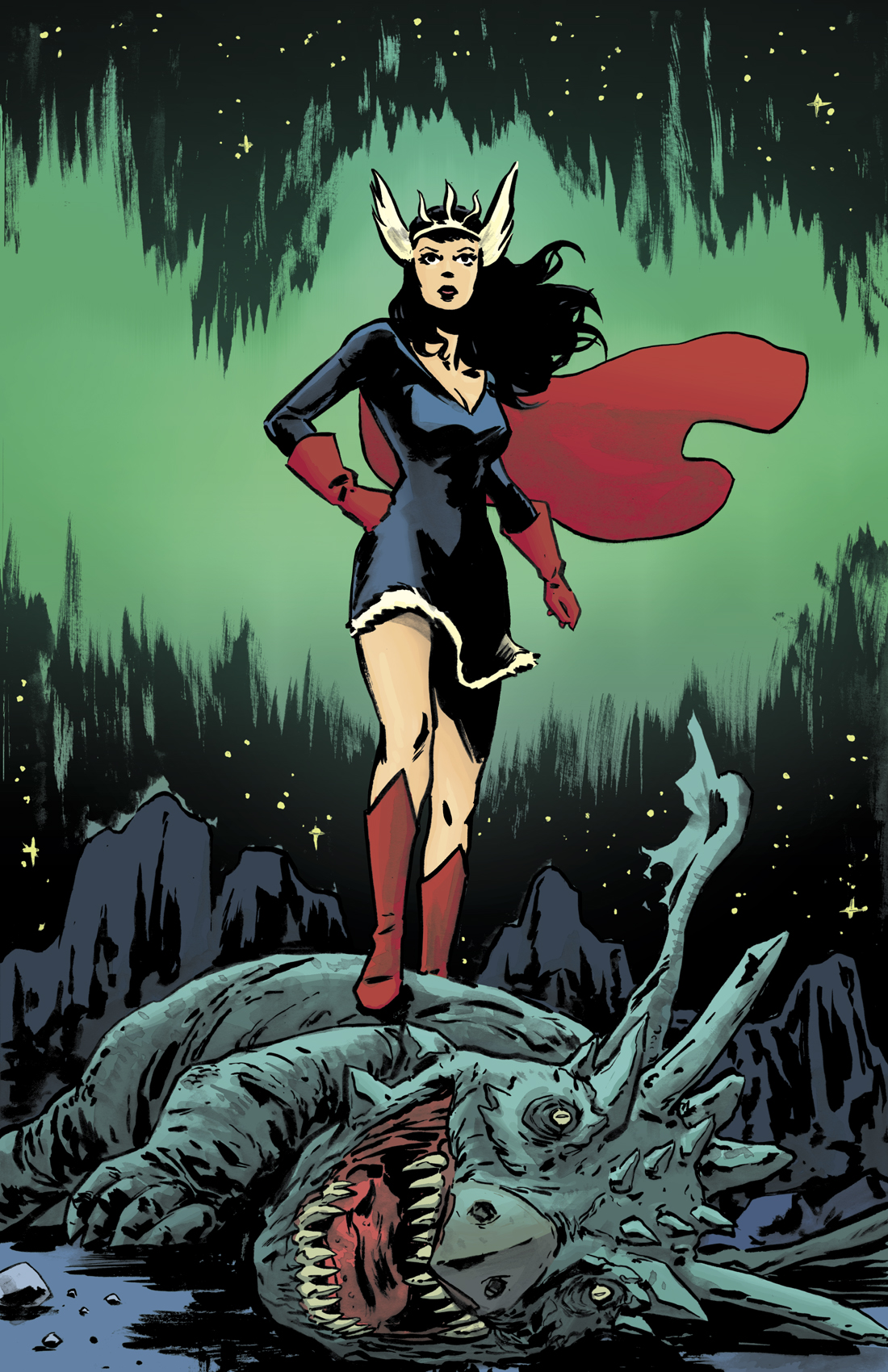 Nelvana of the Northern Lights illustration by Michael Walsh/ colors by Kelly Fitzpatrick    Michael's Website     Kickstarter Link