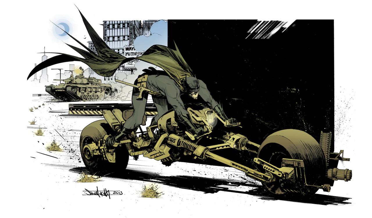 Batman illustration by Sean Murphy/ colors by Kelly Fitzpatrick           http://seangordonmurphy.com/       http://seangordonmurphy.deviantart.com/