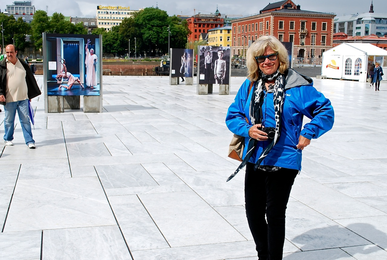 Sue Frause at the Oslo Opera House in Norway.