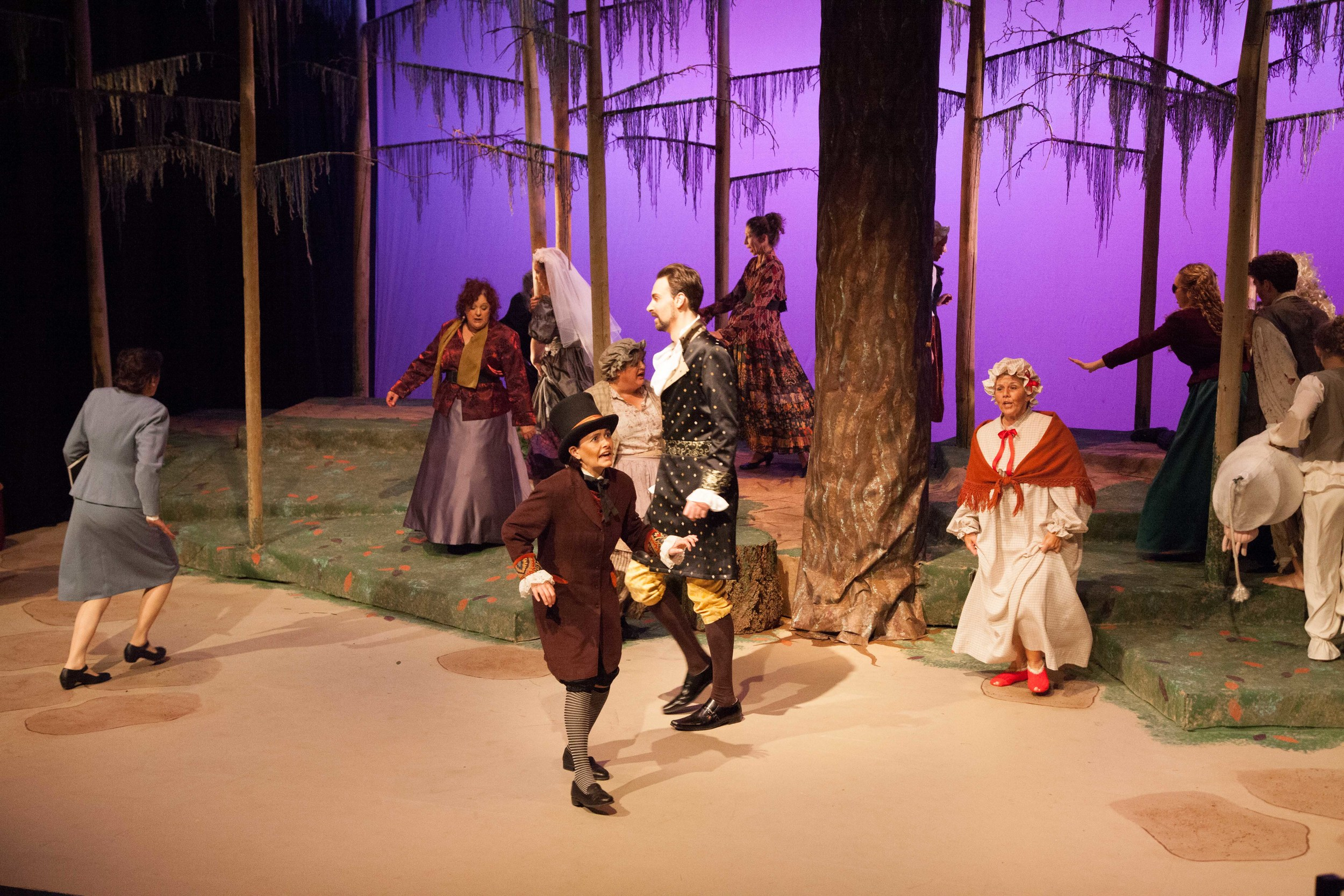 Lucy Pearce and Ensemble in Into the Woods, photo by  j shu images
