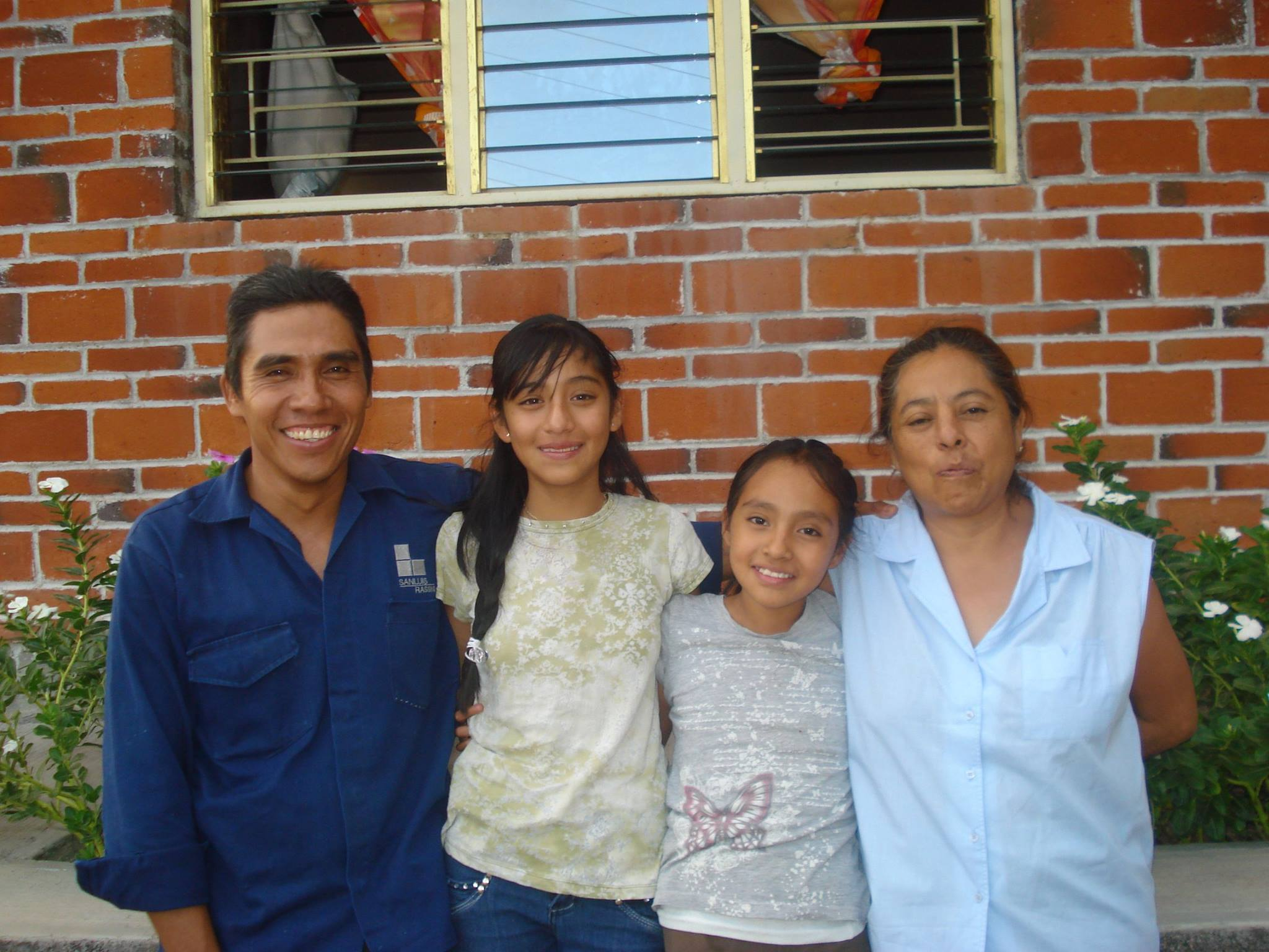 Agapito, Zabdi, Noemí, and Elsa Osorio, missionaries in San Pablo Anicano, Puebla, Mexico