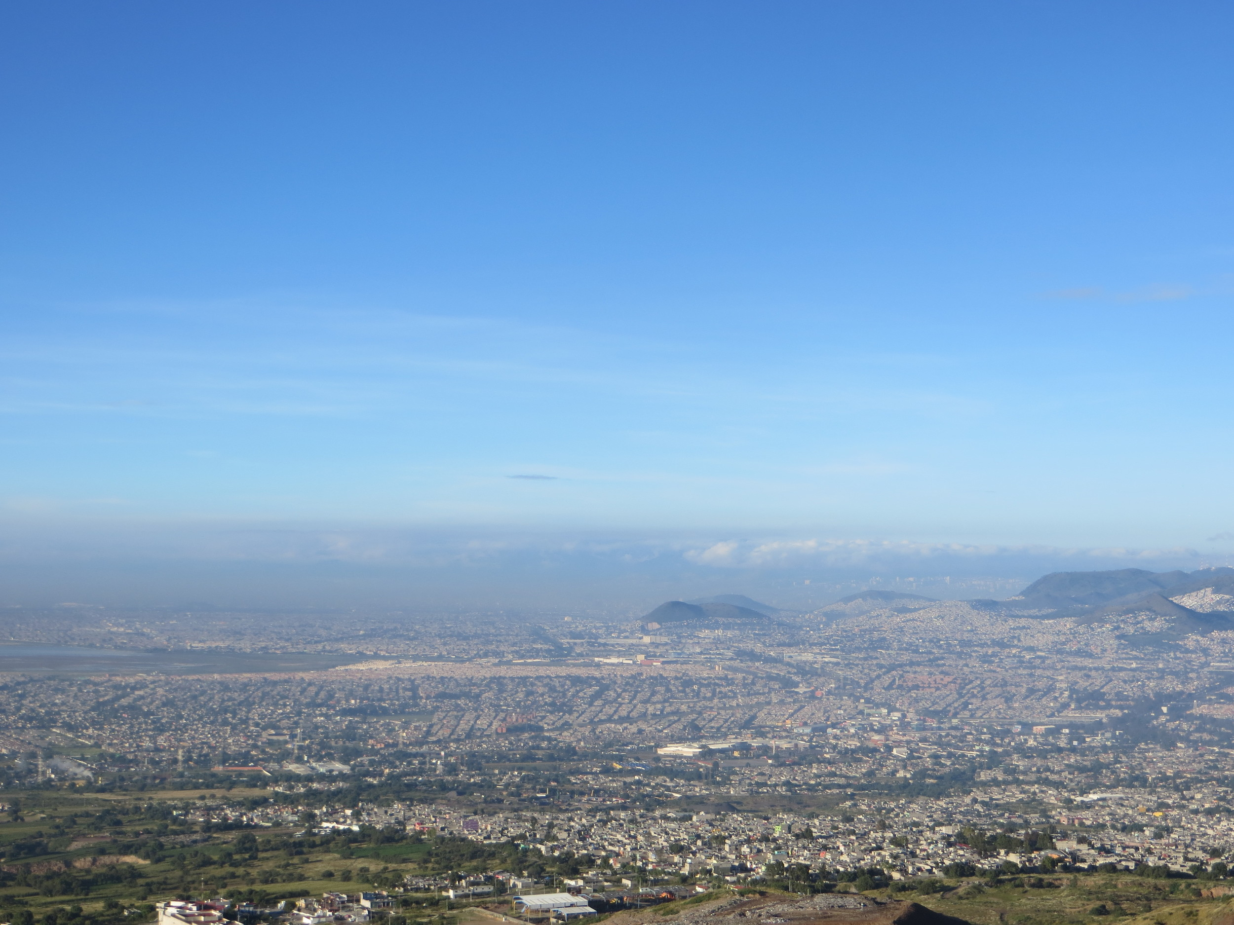 Chiconautla, some of which is visible in the foreground, blends in with the rest of Mexico City's metropolitan area.