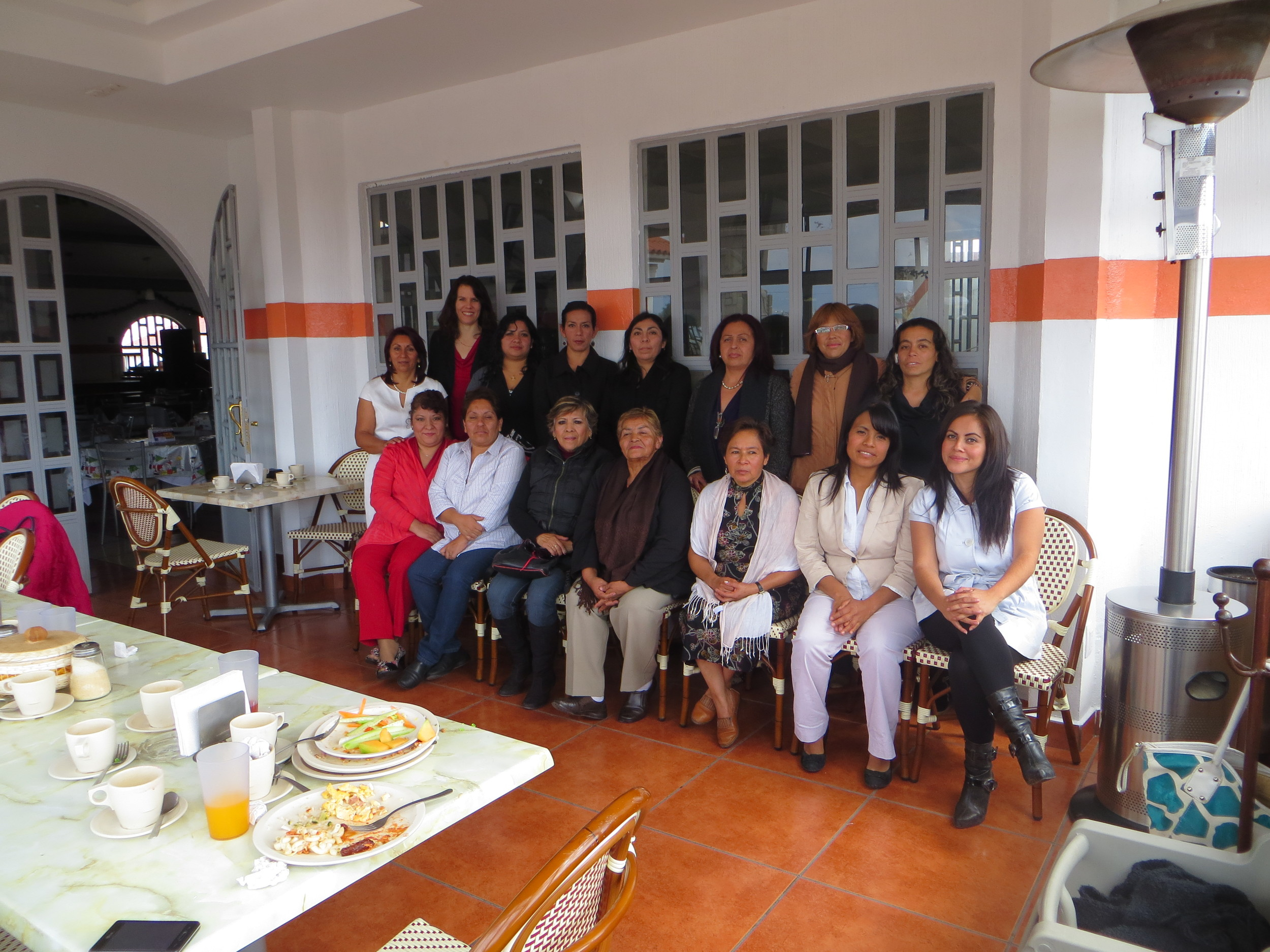 "Laura shared at a women's breakfast for the ""Church in the Park"" in Tizayuca."