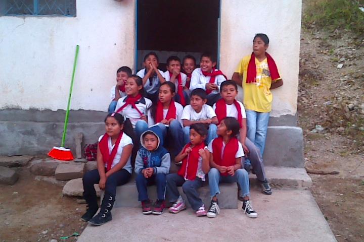 Kids Club members sang for the Christmas program in Puebla.