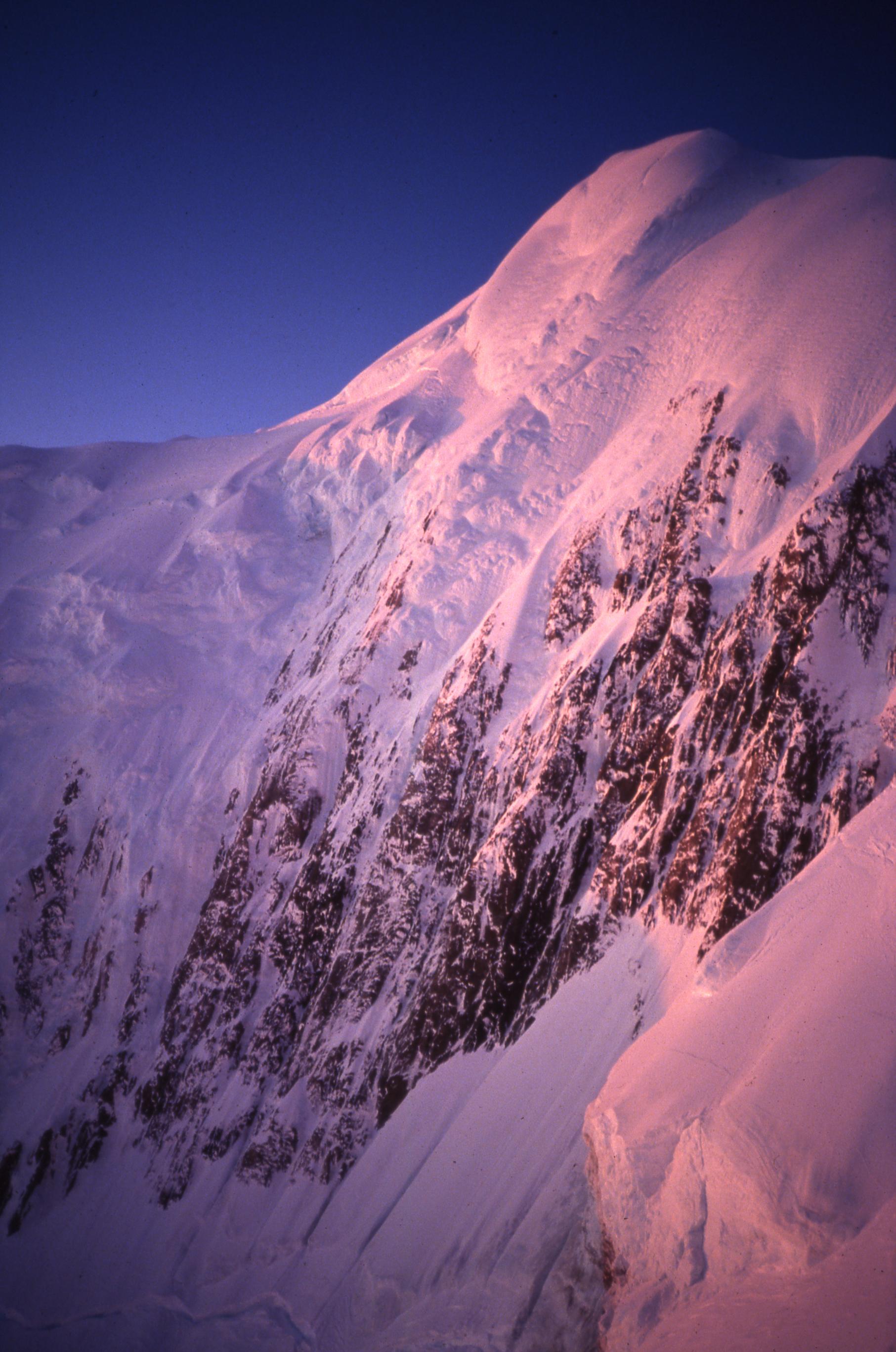 Balfour Face of Mt. Tasman, winter 1993.