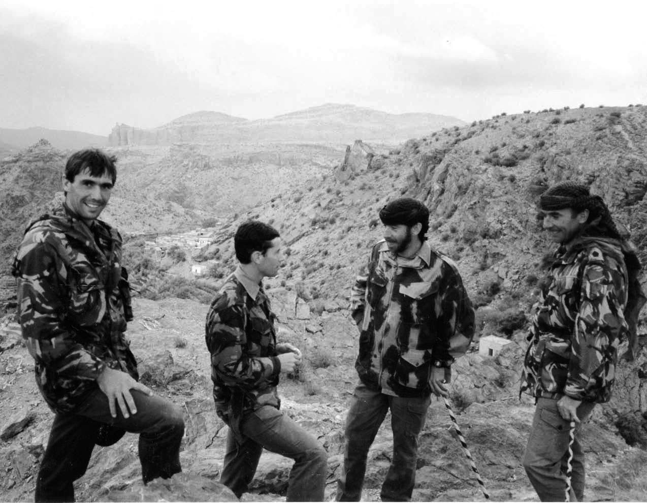 Athol on the left with his Oman Reconnaissance Force colleagues: Christopher Beese, Mikey Wilson, and Ray Johnston. Photo: Richard Essberger.