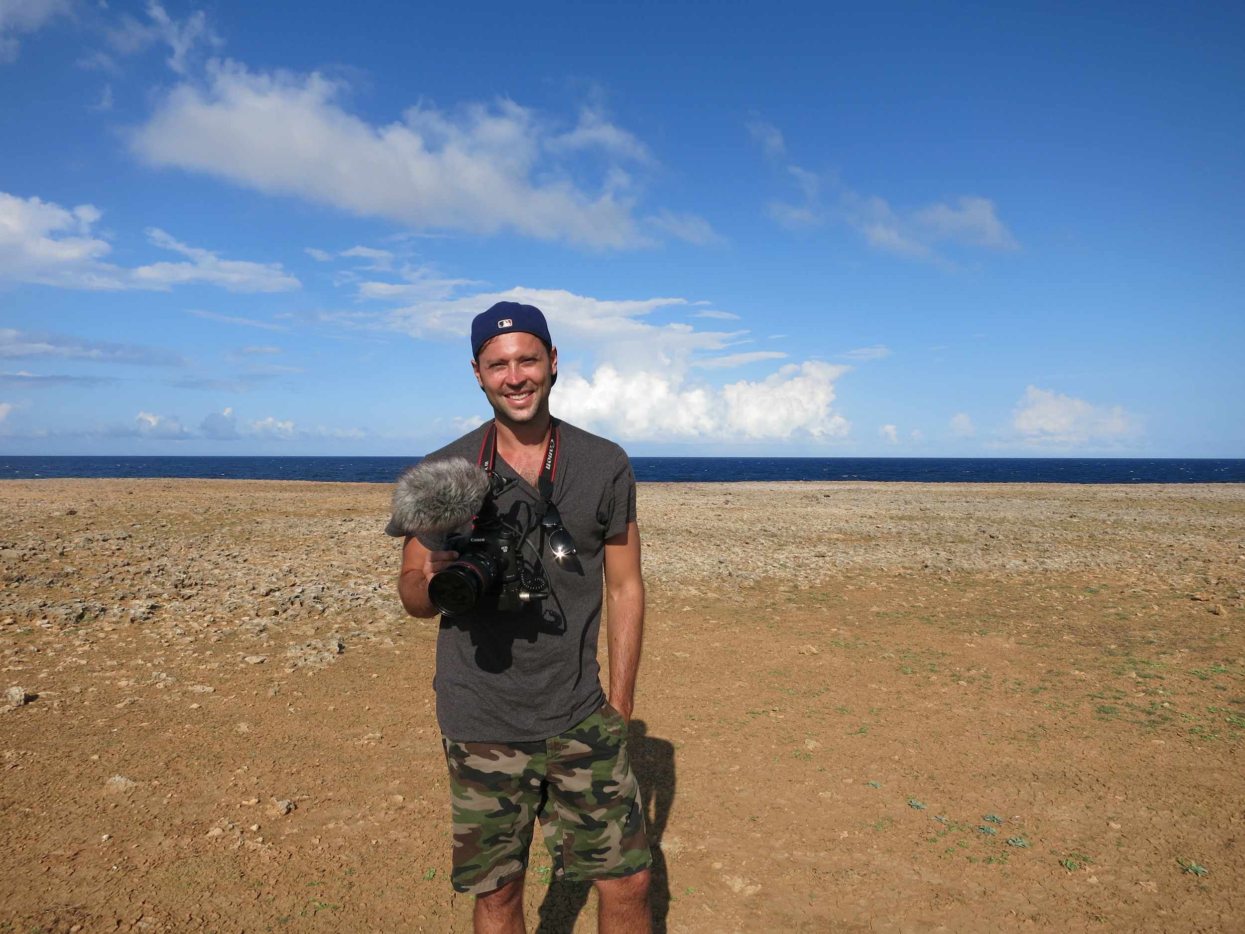 Me shooting some B-Roll at Arikok National Park in the south of Aruba.