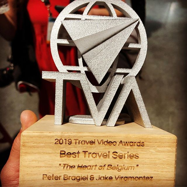 "Super excited to have won Best Travel Series for ""The Heart of Belgium"" with @jakeviramontez. Special thanks to the @thetravelvideoawards and @citizine for putting this all together! Not only exciting but also inspiring to make more passion driven content like this. Thanks for all the support, everyone!  On to the next adventure :) 📷: @travelingjules @journeyingwithtab"