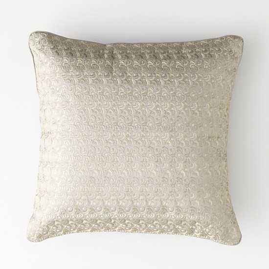 "Embroidered decorative pillow 18"" x 18"""