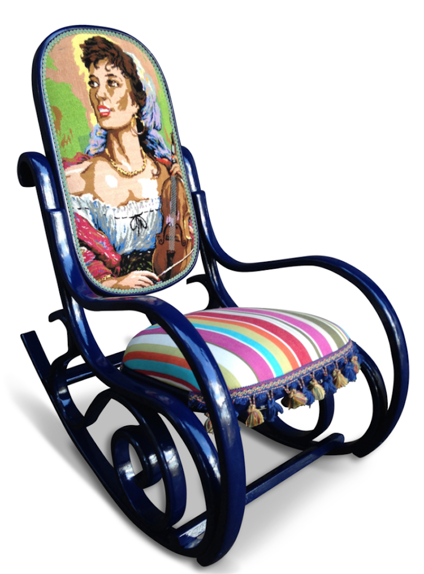 Tapestry Rocking Chair - for sale!