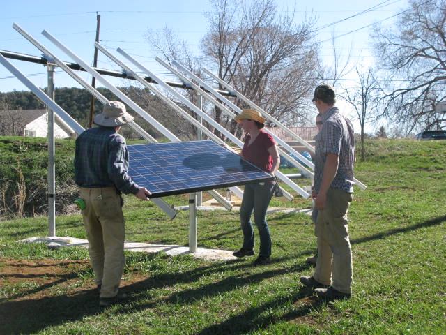 H.E.L.P. puts up a solar array.