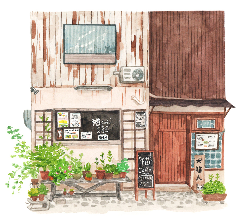 Justine-Wong-Illustration-21-Days-in-Japan-Cat-Cafe.jpg