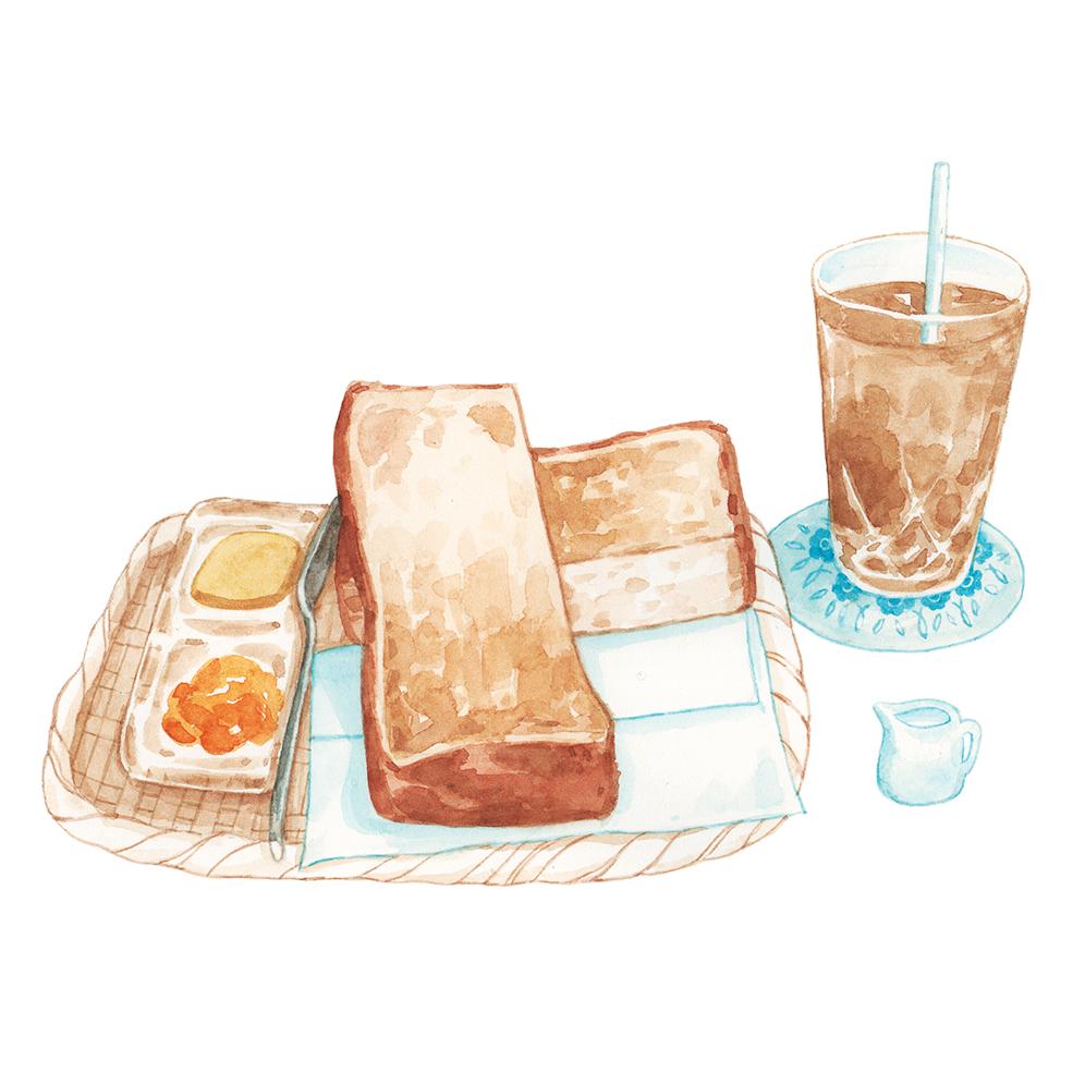 Justine-Wong-Illustration-21-Days-in-Japan-Tokyo-Breakfast-Toast.jpg